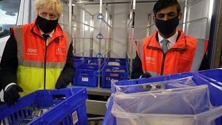 İngiltere Başbakanı Boris Johnson ve Maliye Bakanı Rishi Sunak