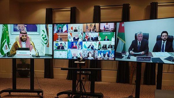 السعودية نيوز |      مشاكل تقنية ولقطات طريفة على الشاشة في قمة العشرين الافتراضية