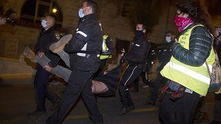 Una de las detenciones practicadas por la policía israelí