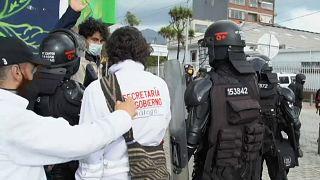 Protestas en Bogotá un año después del paro nacional del #21N
