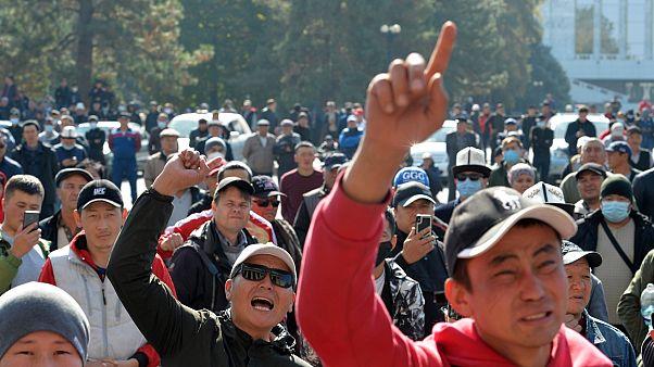Kırgızistan'da hükümet karşıtı gösteri (13 Ekim 2020)