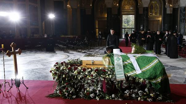 Στιγμιότυπο από την κηδεία του Πατριάρχη Ειρηναίου