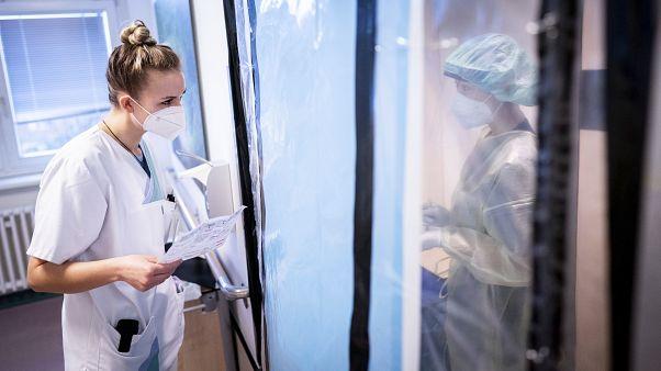 Krankenschwestern in einem Berliner Krankenhaus
