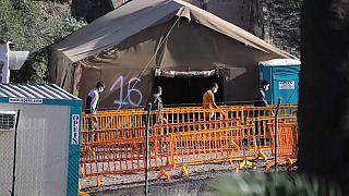Campamento de emergencia en Barranco Seco, Las Palmas de Gran Canaria