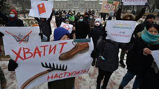 مظاهرات قرغيزستان