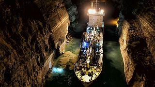 Προσάραξη πλοίου στον Ισθμό της Κορίνθου
