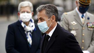 Николя Саркози на церемонии 11 ноября в Париже