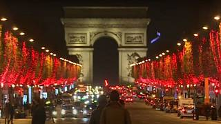 Christmas lights switched on in Paris on November 22, 2020
