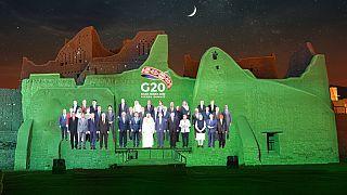 Foto de família virtual do G20 em Riade