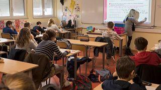 کلاس درس مدرسهای در فرانسه