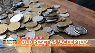 Various Spanish Peseta coins