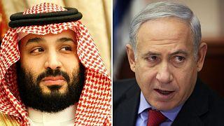 بنیامین نتانیاهو، نخست وزیر اسرائیل و محمد بن سلمان ولیعهد عربستان