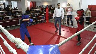 ملاكمة نسائية غزة