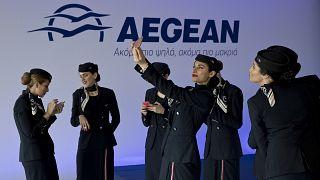 Αεροσυνοδοί της Aegean airlines