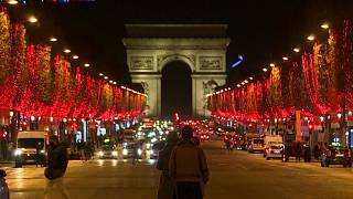 Paris Christmas season lights
