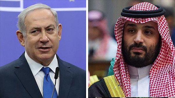 Netanyahu (solda) ve Prens Selman (sağda)