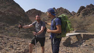 Exploring steep ridges with breathtaking views in Hatta