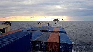 Deutsche Marinesoldaten auf türkischem Frachter vor Libyen