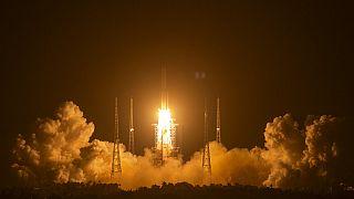 Start der Mond-Mission