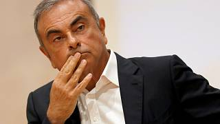 In this Sept. 29, 2020 file photo, former Nissan Motor Co. Chairman Carlos Ghosn holds a press conference in Beirut, Lebanon