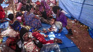 لاجئون إثيوبيون  فروا من القتال في إقليم تيغراي