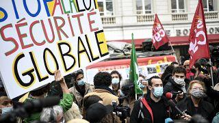 """Manifestation contre le projet de loi""""sécurité globale"""", à Paris, 17 novembre 2020"""