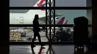 Intérieur de l'aéroport international de Los Angeles, en Californie, le 23 novembre 2020