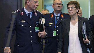 Η υπουργός Άμυνας της Γερμανίας Άνεγκρετ Κραμπ-Κάρενμπαουερ