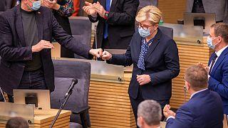 اینگریدا سیمونیت پس از انتخاب در مقام نخست وزیر آینده لیتوانی