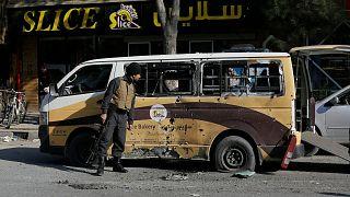 تصویری از انفجار در کابل ۲۱ نوامبر