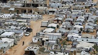 مخيم للاجئين في عرسال اللبنانية