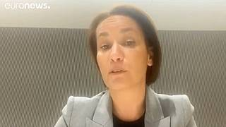 La ejecutiva de AstraZeneca Iskra Reic durante su entrevista con euronews
