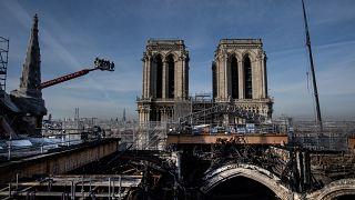 Vue du chantier de la cathédrale Notre-Dame de Paris, le 24/11/2020