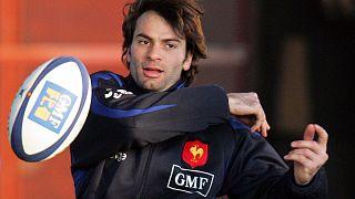Christophe Dominici lors d'un entraînement au Centre National de Rugby de Marcoussis - France - le 31 janvier 2006
