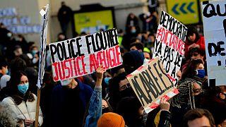 Protesta contra la Ley de Seguridad Global en París