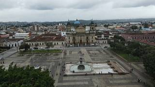 Vista aérea de la catedral de Ciuad de Guatemala
