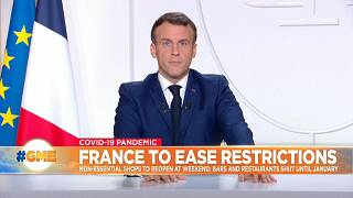 French president Emmanuel Macron announces easing of restrictions