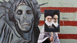 تظاهرات سالانه در مقابل سفارت سابق ایالات متحده در تهران