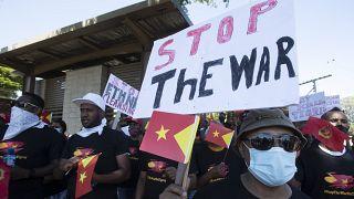 Les Éthiopiens d'Afrique du Sud manifestent pour leurs familles