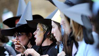 نقابات عمالية في إيطاليا تنظم في روما مظاهرات لدعم حقوق المرأة في مكان العمل في يوم المرأة، 8 مارس 2008