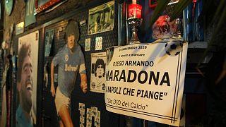 Dans les rues de Naples, le 25 novembre 2020