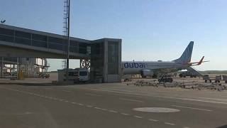 طائرة تابعة لشركة فلاي دبي على أرضية مطار أربيل بكردستان العراق
