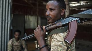 Un membro delle forze speciali di Amara, regione dell'Etiopia confinante con il Tigrè