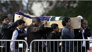 تشییع پیکر یکی از قربانیان حمله تروریستی یک راست افراطی در نیوزیلند؛ مارس ۲۰۱۹
