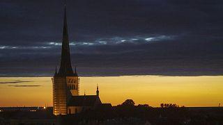 Tallin az esti órákban 2019. június 27-én