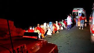 Rescate en el puerto de Órzola en Lanzarote
