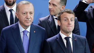 Türkiye Cumhurbaşkanı Erdoğan ve Fransız Cumhurbaşkanı Macron