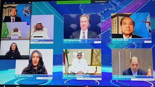 Organizasyonun açılışı videokonferans yoluyla yapıldı