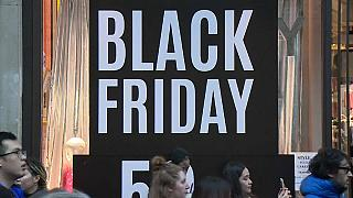 Shoppers search for 'Black Friday' bargains on London's Oxford Street, 23 November 2018