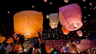جشنواره فانوسهای کاغذی زاگرب در حاشیه جشن کریسمس